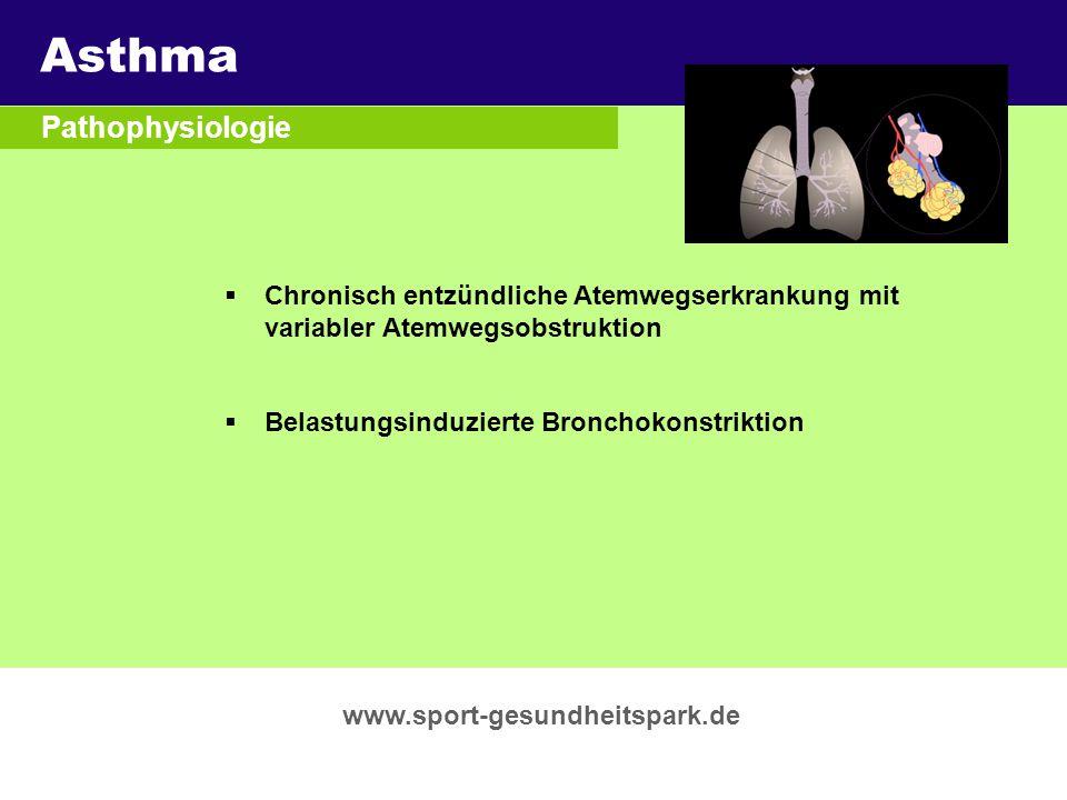 Asthma Überschrift Pathophysiologie Untertitel