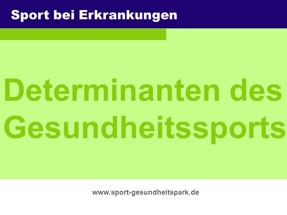 Determinanten des Gesundheitssports