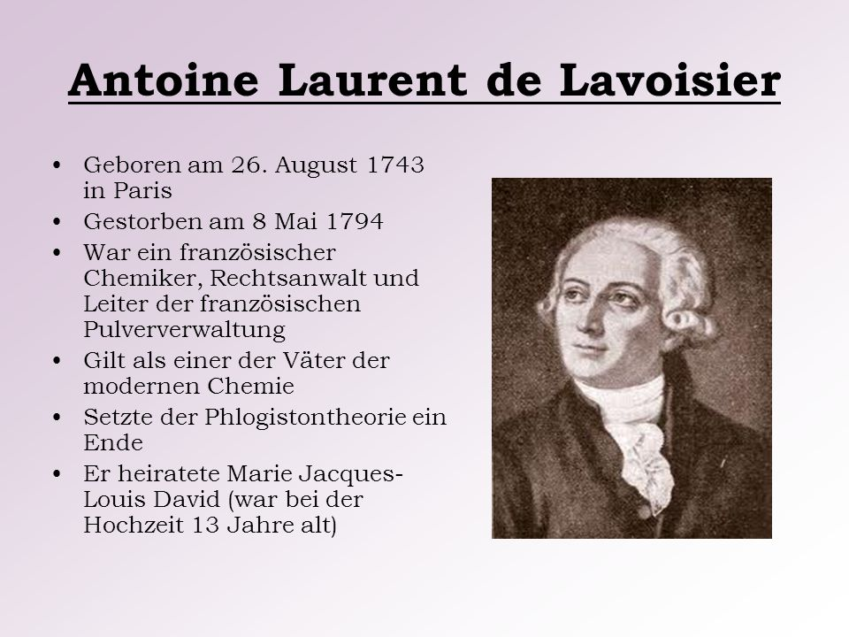 Antoine Laurent de Lavoisier