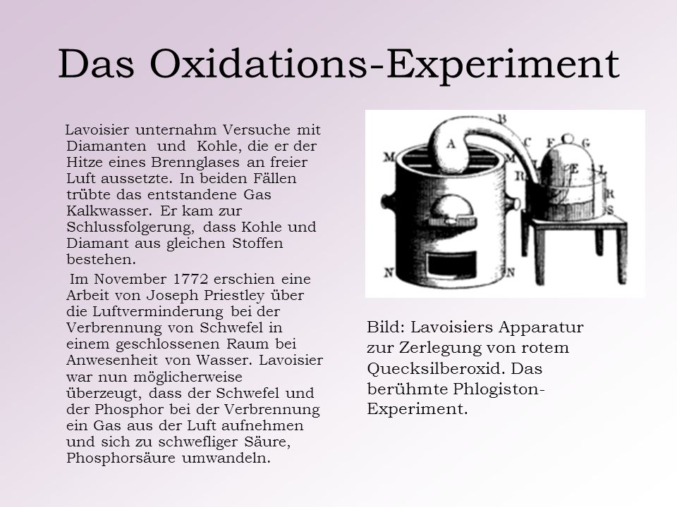 Das Oxidations-Experiment