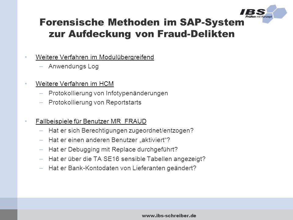 Forensische Methoden im SAP-System zur Aufdeckung von Fraud-Delikten