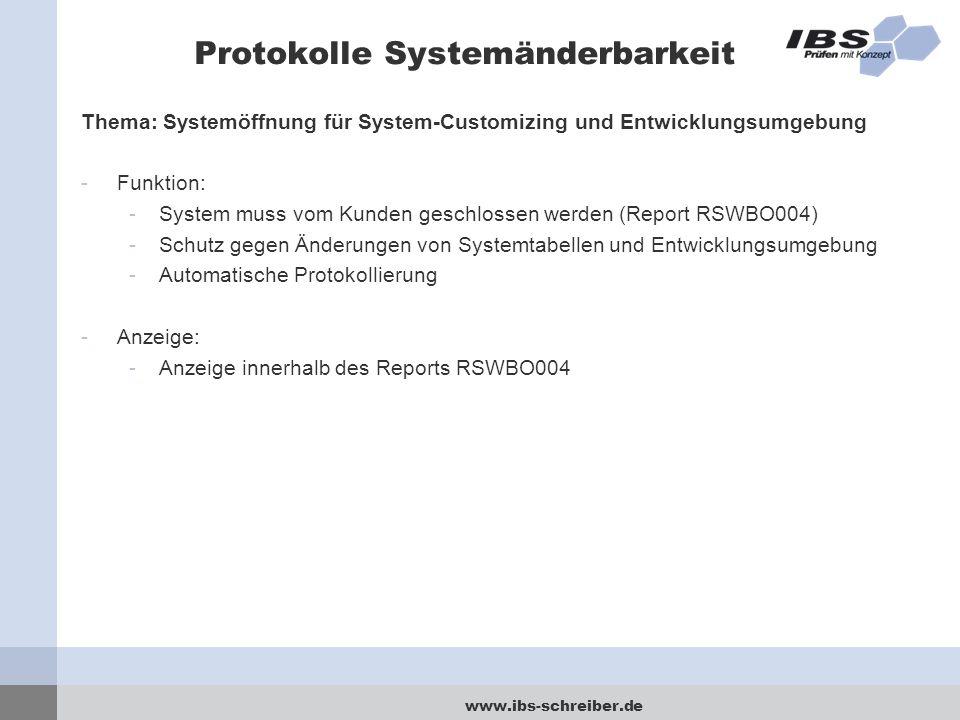 Protokolle Systemänderbarkeit