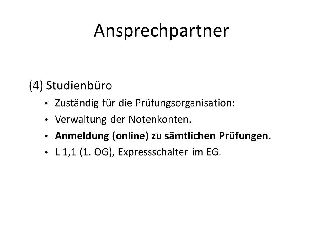 Ansprechpartner (4) Studienbüro