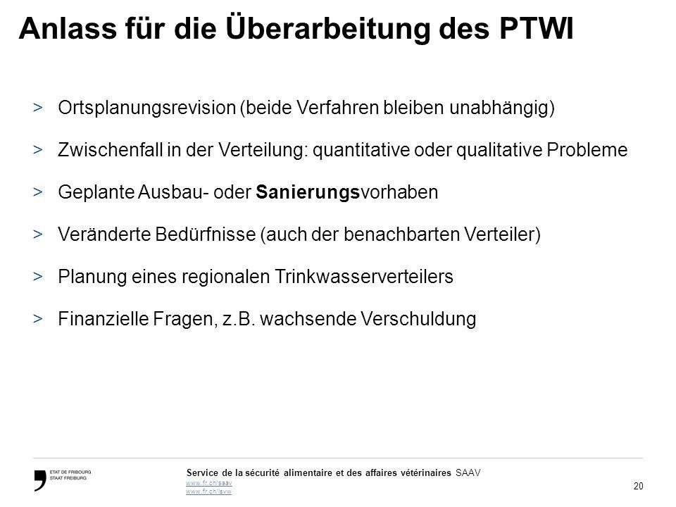 Anlass für die Überarbeitung des PTWI