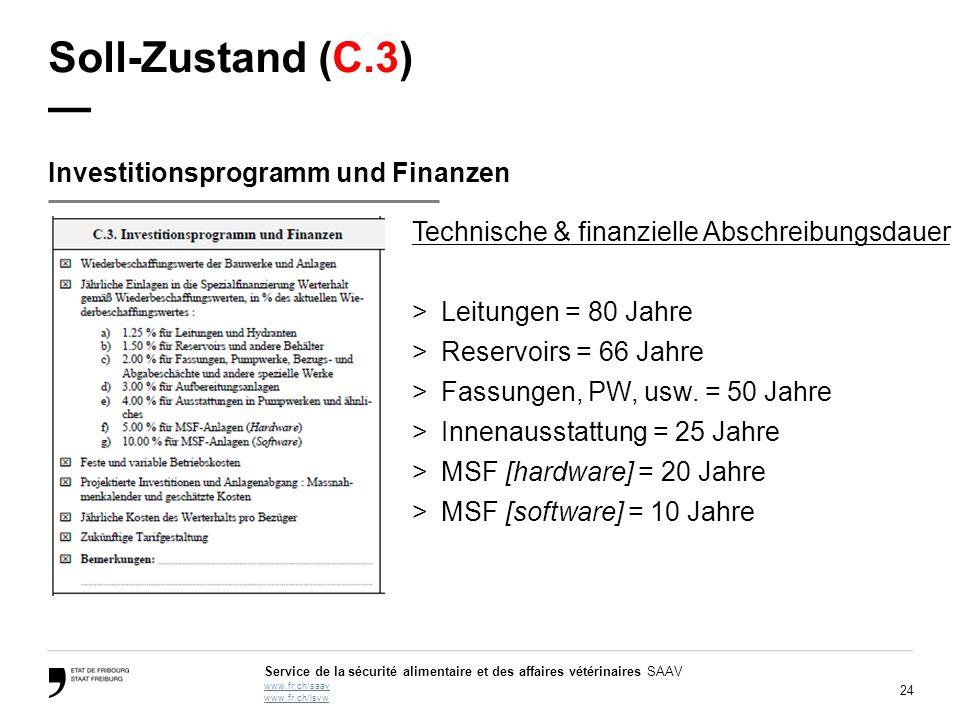 Soll-Zustand (C.3) — Investitionsprogramm und Finanzen