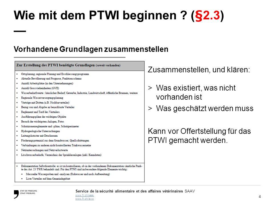 Wie mit dem PTWI beginnen (§2.3) —