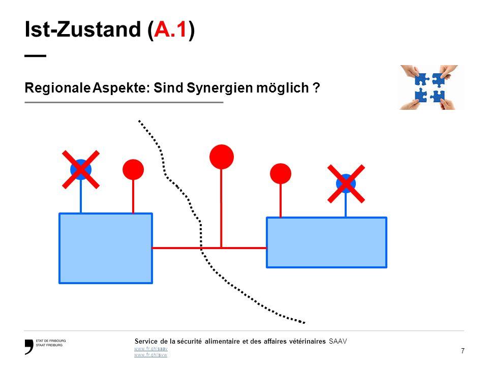 Ist-Zustand (A.1) — Regionale Aspekte: Sind Synergien möglich