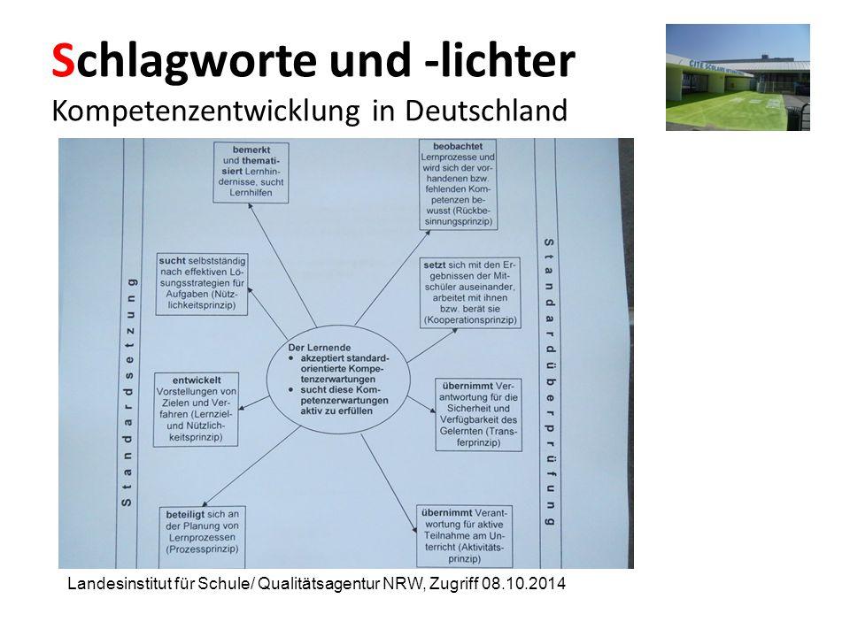 Schlagworte und -lichter Kompetenzentwicklung in Deutschland