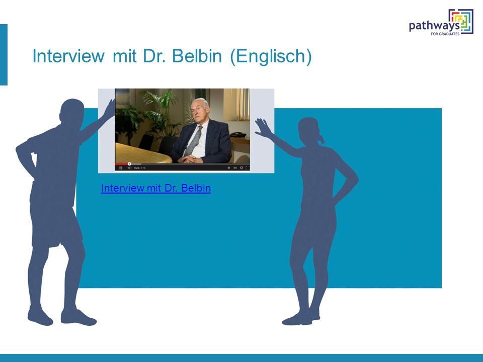 Interview mit Dr. Belbin (Englisch)