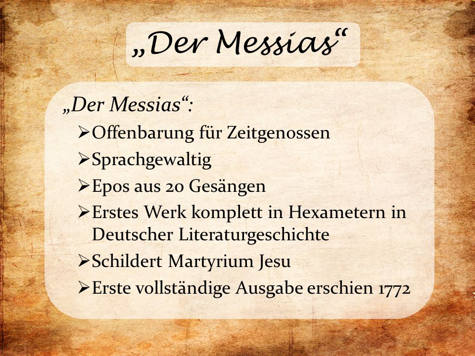 """""""Der Messias """"Der Messias : Offenbarung für Zeitgenossen"""