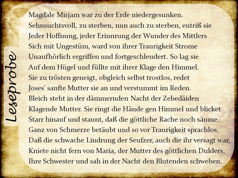 Leseprobe Magdale Mirjam war zu der Erde niedergesunken.