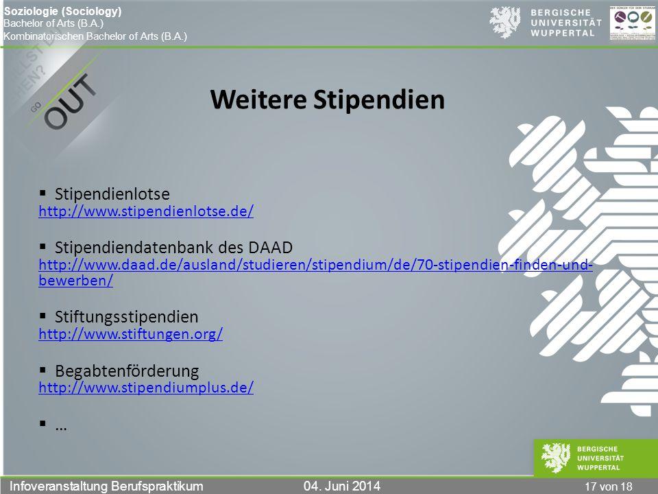 Weitere Stipendien Stipendienlotse http://www.stipendienlotse.de/