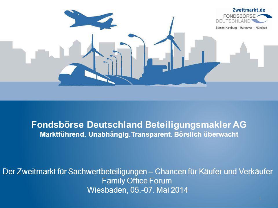 Fondsbörse Deutschland Beteiligungsmakler AG Marktführend. Unabhängig