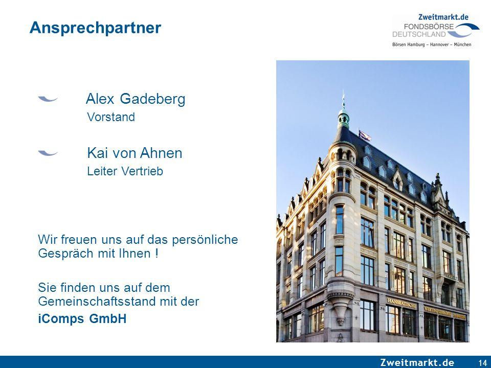 Ansprechpartner Alex Gadeberg Kai von Ahnen Vorstand Leiter Vertrieb