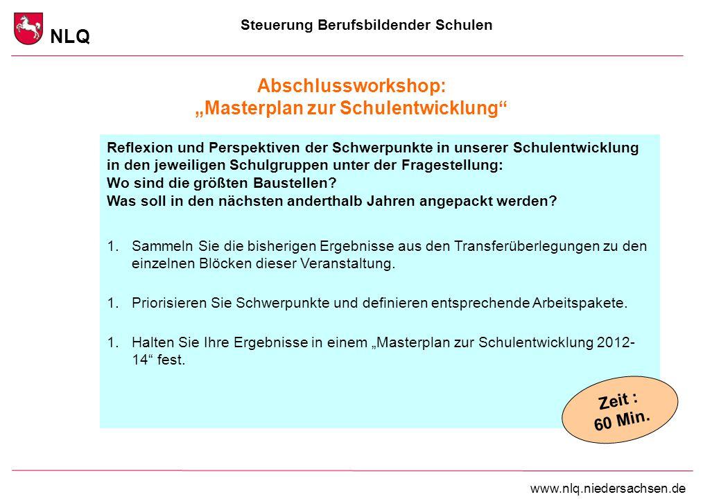 """Abschlussworkshop: """"Masterplan zur Schulentwicklung"""