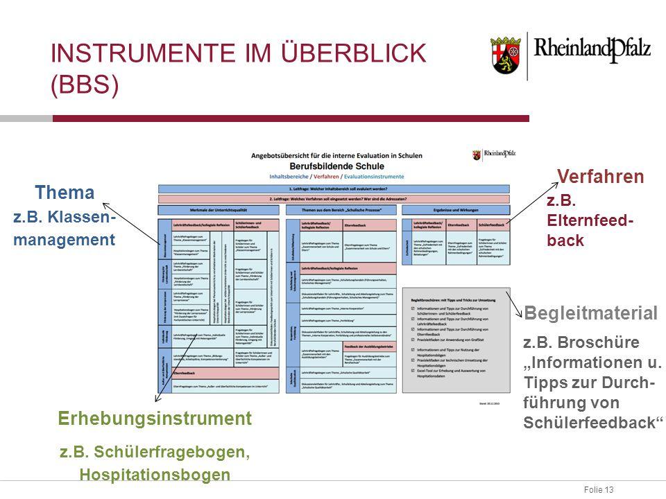 Instrumente im Überblick (BBS)