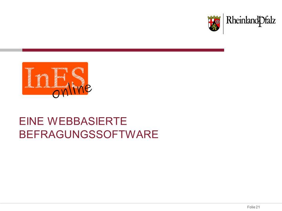 Eine webbasierte Befragungssoftware
