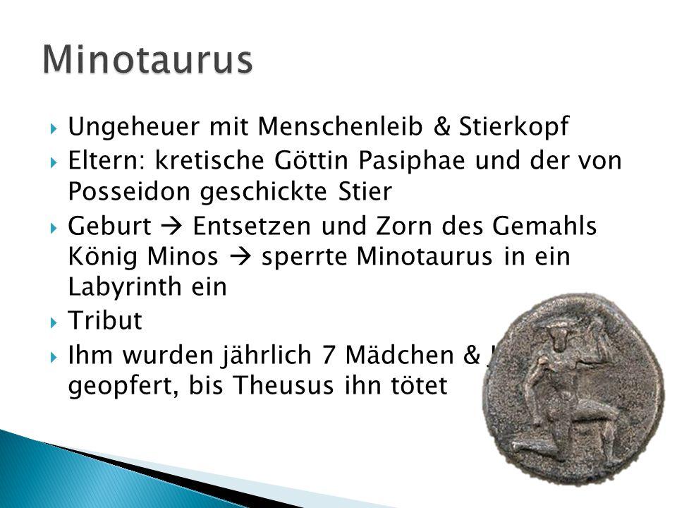 Minotaurus Ungeheuer mit Menschenleib & Stierkopf