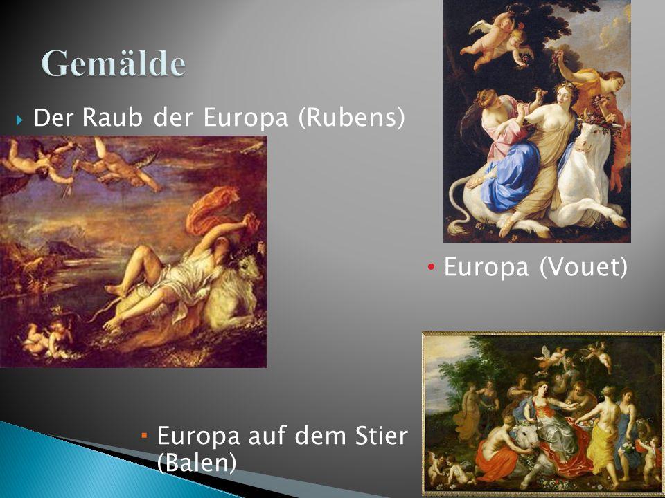 Gemälde Europa (Vouet) Europa auf dem Stier (Balen)