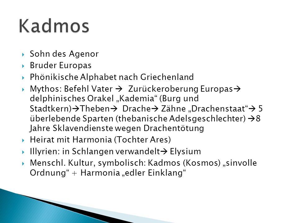 Kadmos Sohn des Agenor Bruder Europas