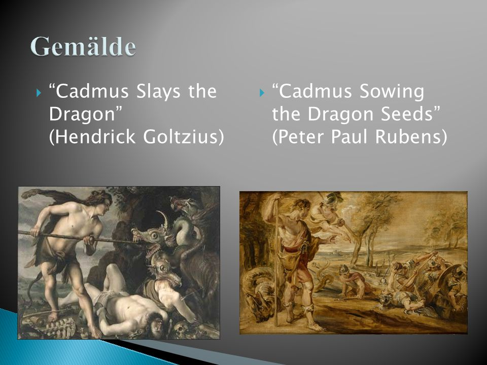 Gemälde Cadmus Slays the Dragon (Hendrick Goltzius)