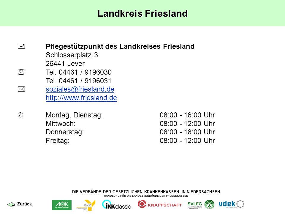 Landkreis Friesland  Pflegestützpunkt des Landkreises Friesland