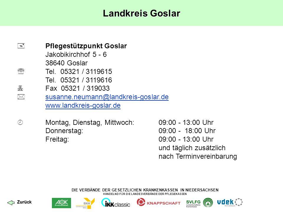 Landkreis Goslar  Pflegestützpunkt Goslar Jakobikirchhof 5 - 6