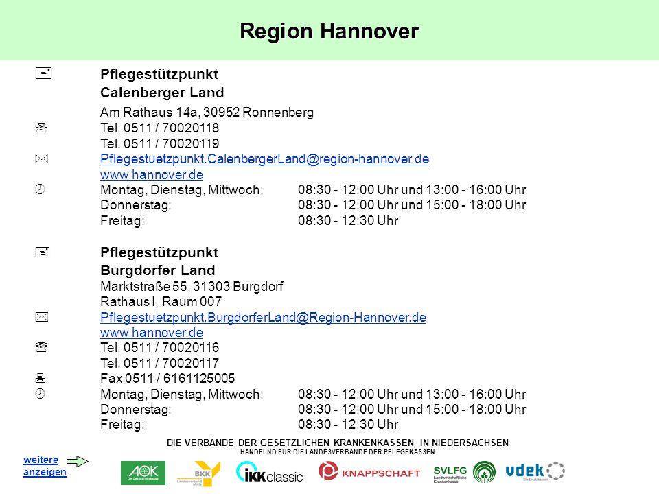 Region Hannover  Pflegestützpunkt Am Rathaus 14a, 30952 Ronnenberg