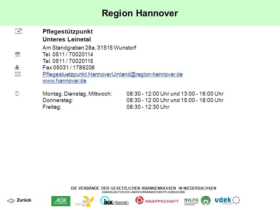 Region Hannover  Pflegestützpunkt Am Standgraben 28a, 31515 Wunstorf