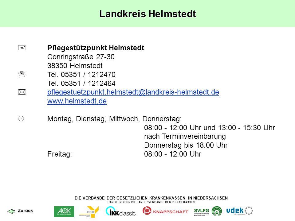 Landkreis Helmstedt  Pflegestützpunkt Helmstedt Conringstraße 27-30