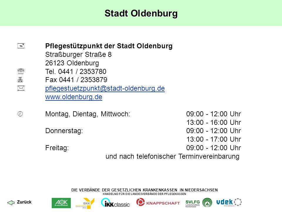 Stadt Oldenburg  Pflegestützpunkt der Stadt Oldenburg