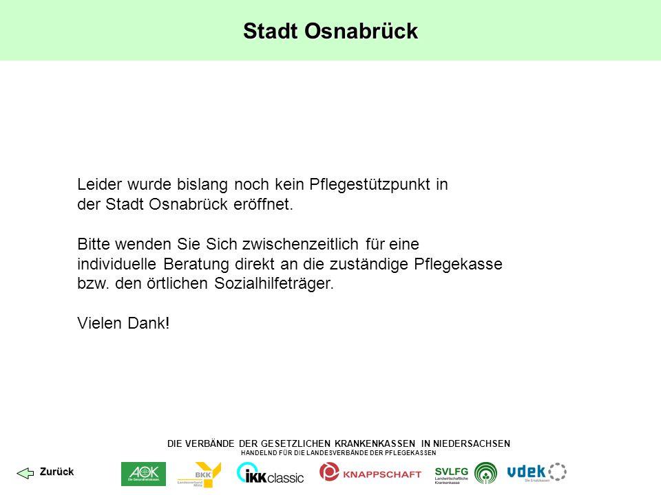 Stadt Osnabrück Leider wurde bislang noch kein Pflegestützpunkt in