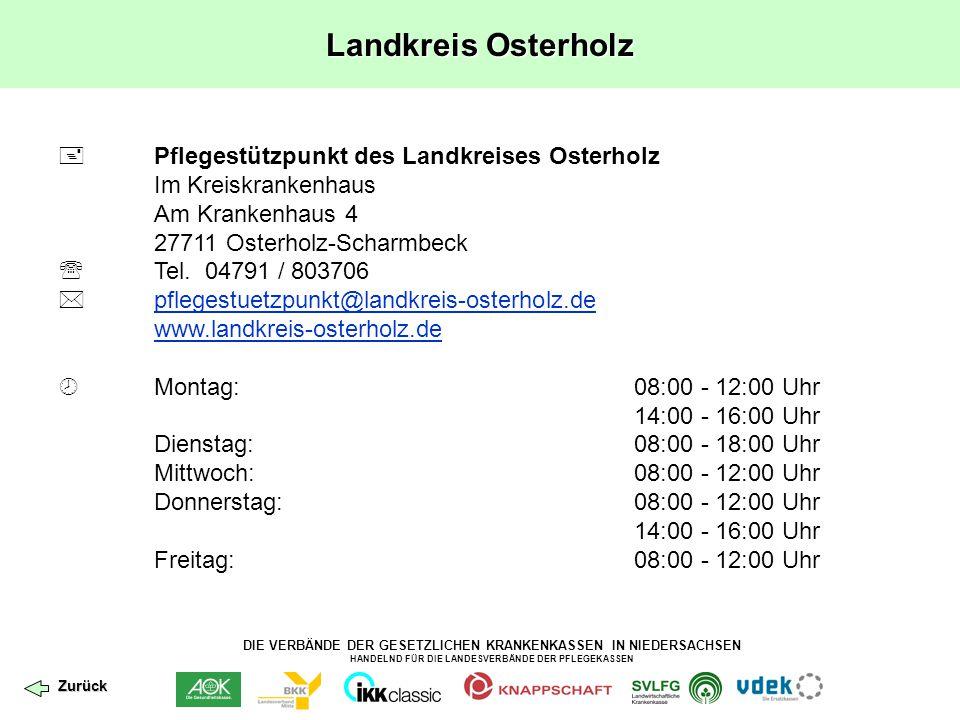 Landkreis Osterholz  Pflegestützpunkt des Landkreises Osterholz