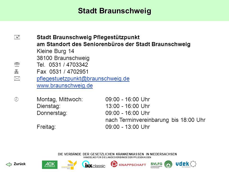 Stadt Braunschweig  Stadt Braunschweig Pflegestützpunkt