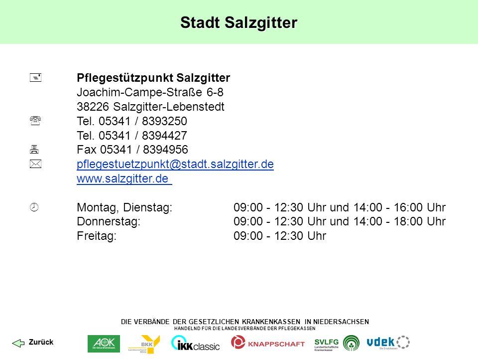 Stadt Salzgitter  Pflegestützpunkt Salzgitter
