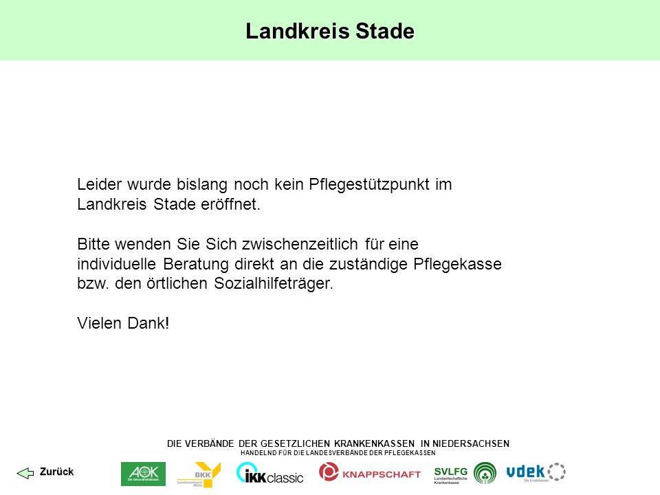 Landkreis Stade Leider wurde bislang noch kein Pflegestützpunkt im