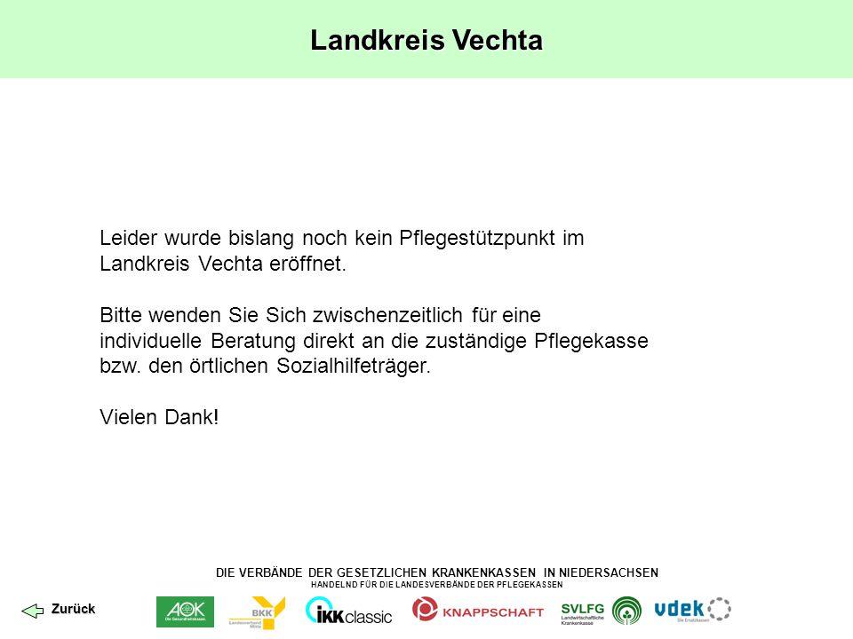 Landkreis Vechta Leider wurde bislang noch kein Pflegestützpunkt im