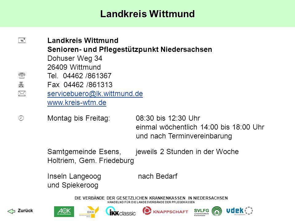 Landkreis Wittmund Landkreis Wittmund