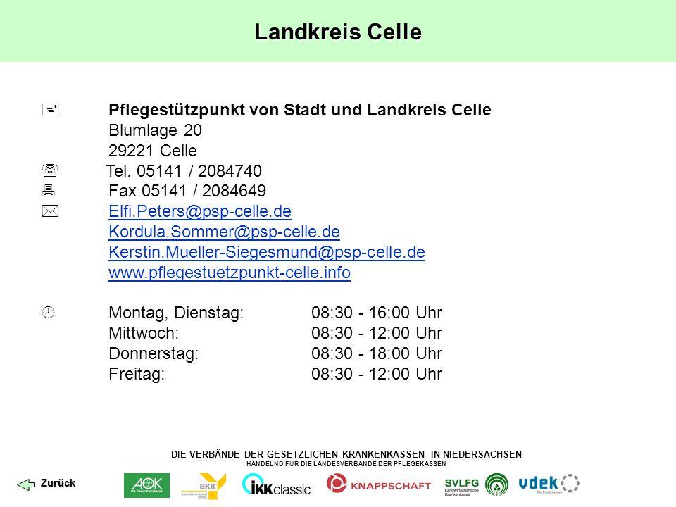 Landkreis Celle  Pflegestützpunkt von Stadt und Landkreis Celle