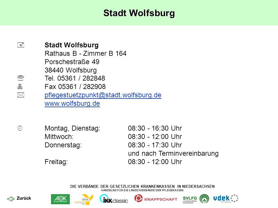 Stadt Wolfsburg  Stadt Wolfsburg Rathaus B - Zimmer B 164