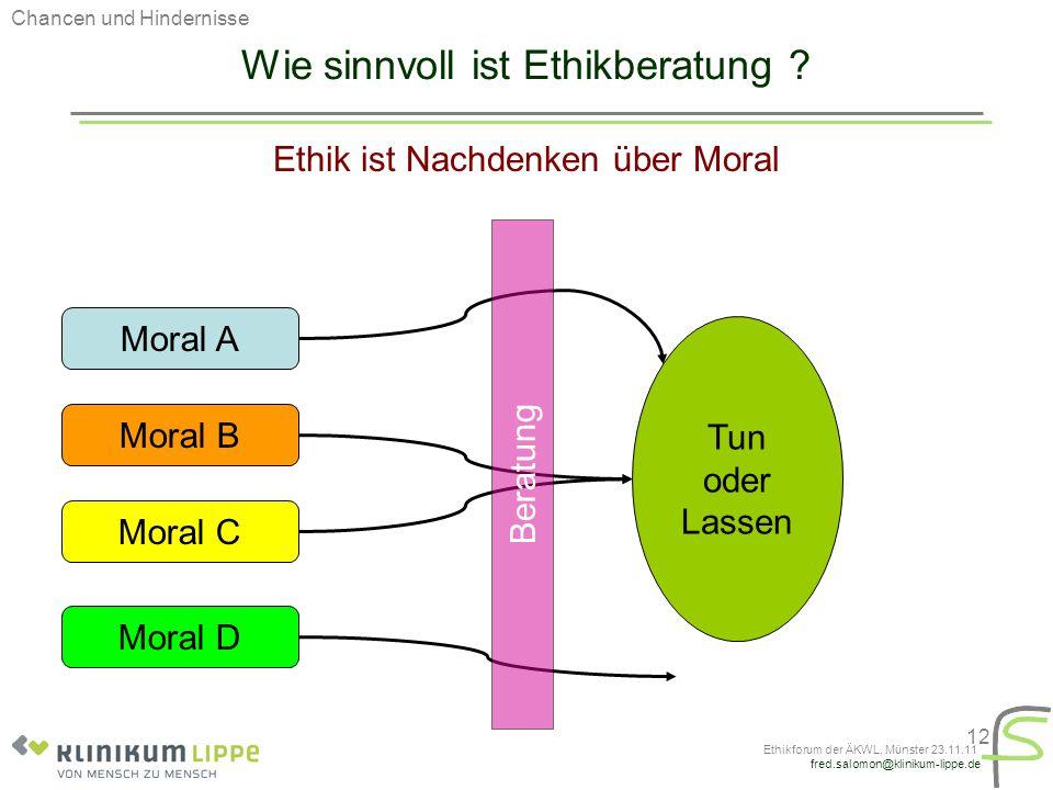 Wie sinnvoll ist Ethikberatung