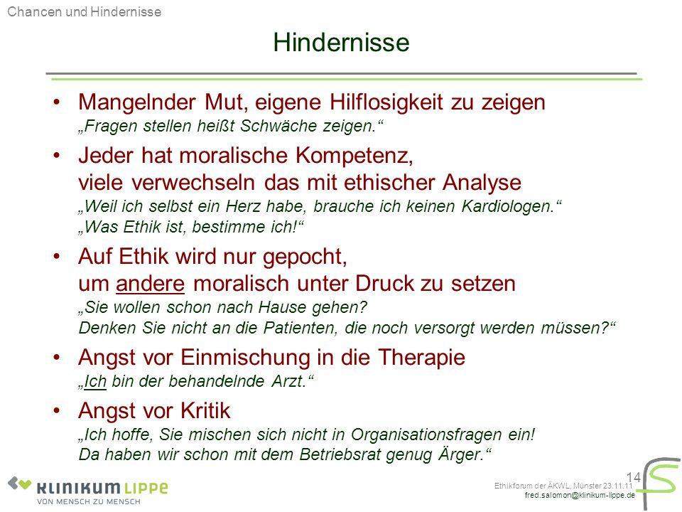 Ethikforum der ÄKWL, Münster 23.11.11