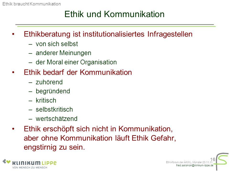 Ethik und Kommunikation