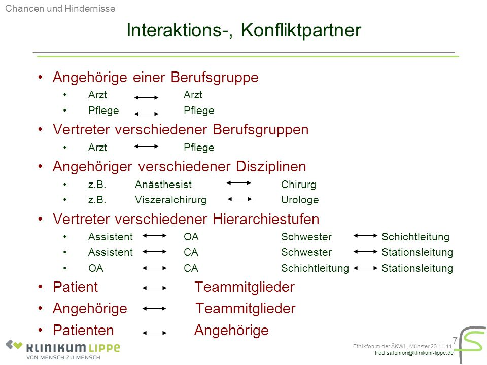 Interaktions-, Konfliktpartner