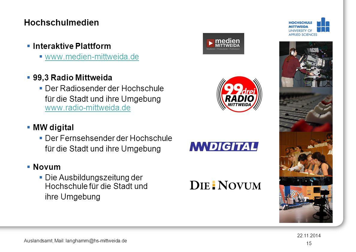 Hochschulmedien Interaktive Plattform www.medien-mittweida.de