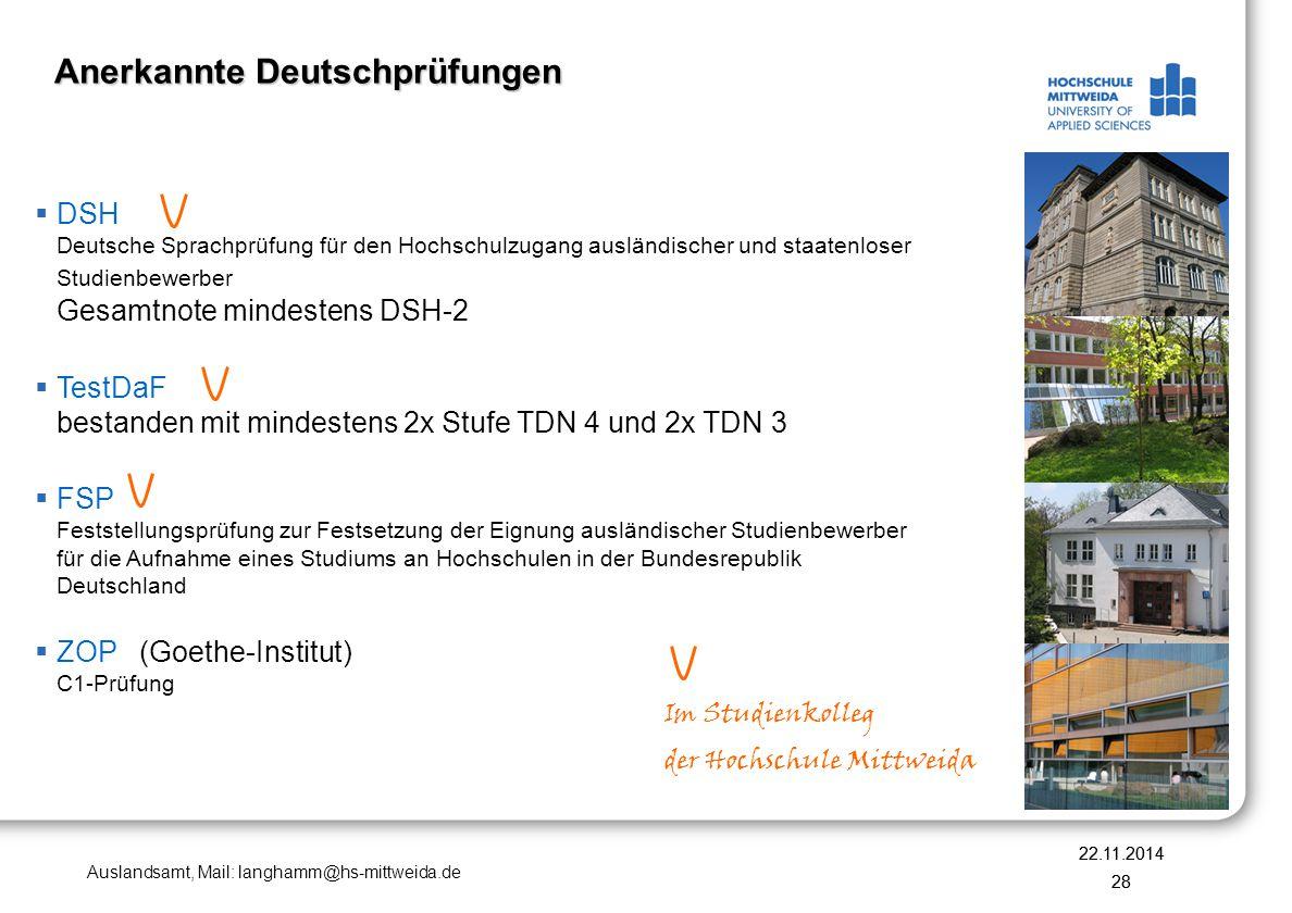Anerkannte Deutschprüfungen