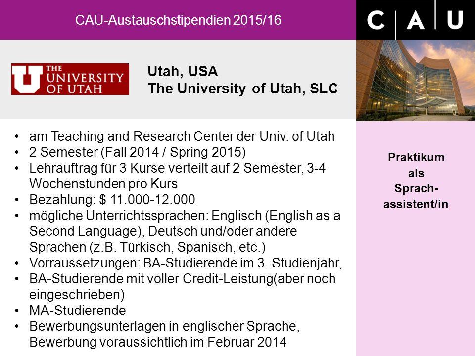 CAU-Austauschstipendien 2015/16