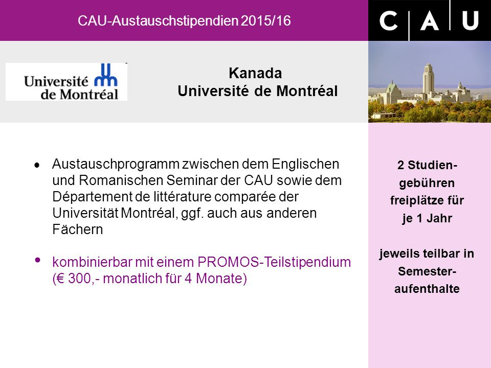 Kanada Université de Montréal