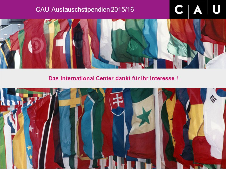Das International Center dankt für Ihr Interesse !