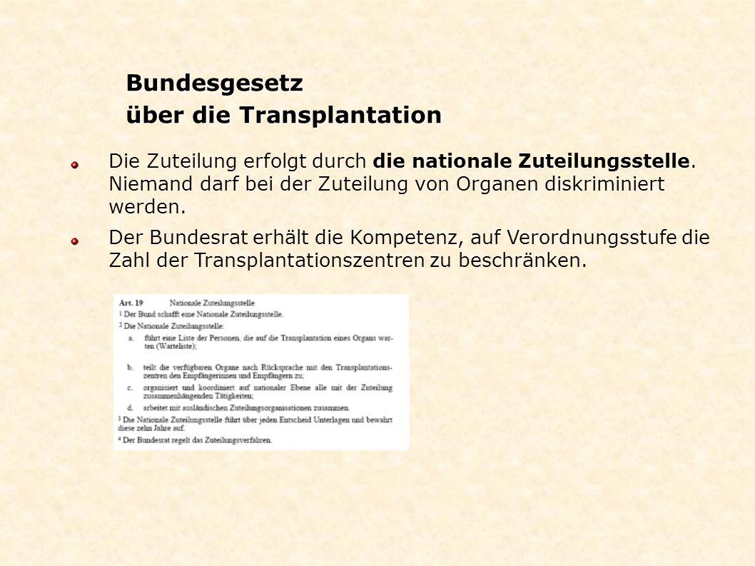 über die Transplantation